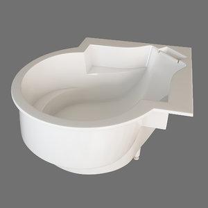 3D model thg bathtub bath