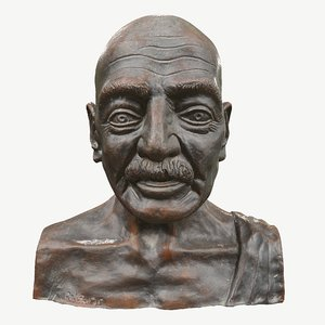 sculpture gandhi 3D model