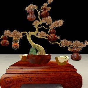 3D model chinese gourd yuanbao