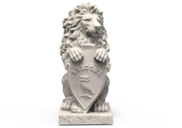 sculpture lion sculpt 3D model