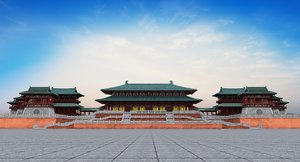 3D chinese palace