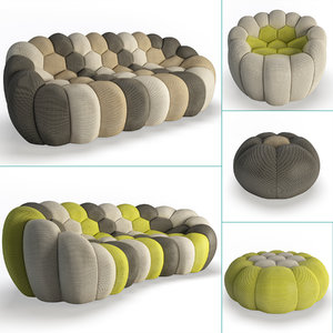 3D set furniture bubble model