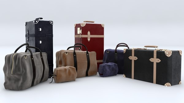 3D suitcase bag case