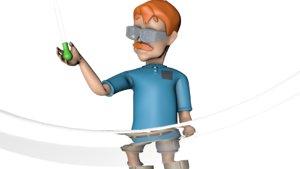 scientist human man 3D model