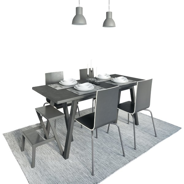table riggestad chair martin 3D model