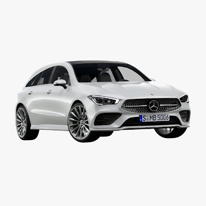 3D 2020 mercedes-benz cla shooting model