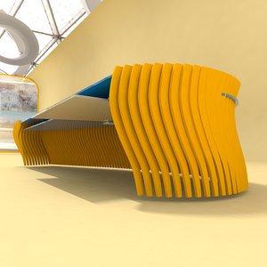 designer table number 3 3D model