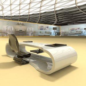 3D model designer table number 9