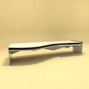 designer table number 1 3D model