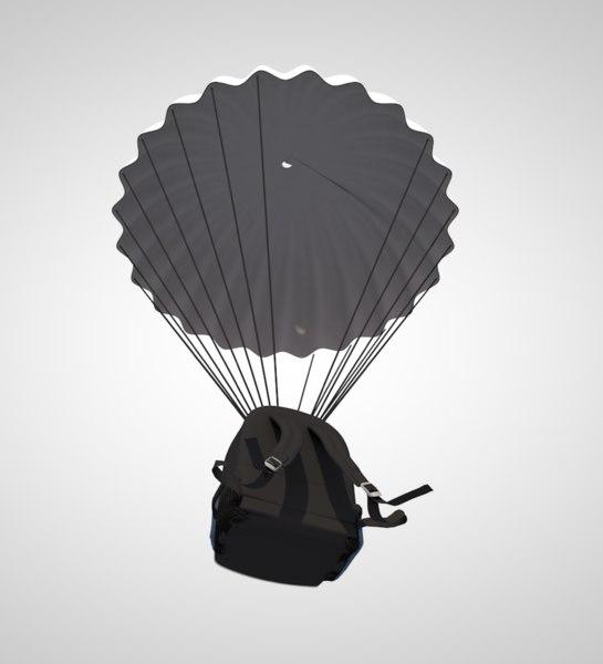 parachute parasailing paraglide 3D