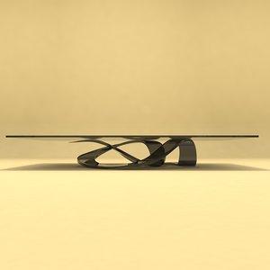 designer table number 14 3D
