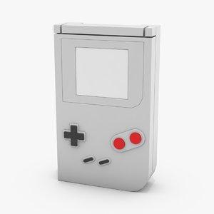 portable 8bit console 3D