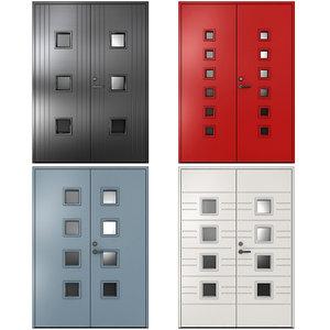 3D metal doors