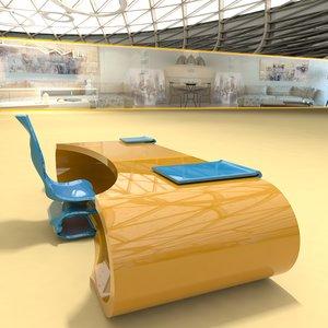 3D designer table number 13 model