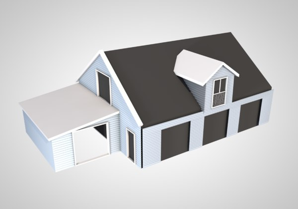 3D house home building architecture