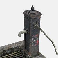 3D worn victorian hand water pump
