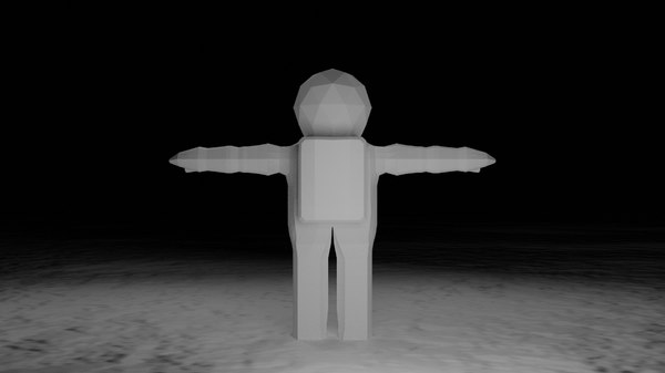 low-poly astronaut character model