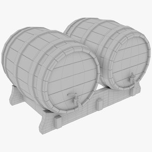 3D model beer barrel