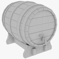 3D model beer barrel