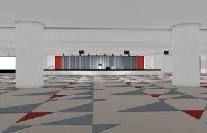 3D multipurpose convention center