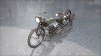 Antique Vintage Militaire Motorcycle 1065 cc 4 cyl 1915