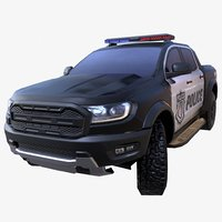 3D suv police model