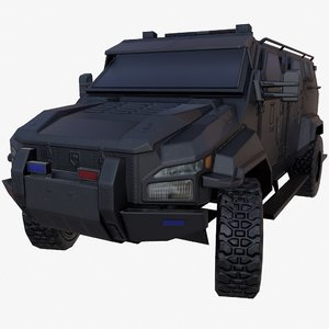 3D model pit-bull vx truck black