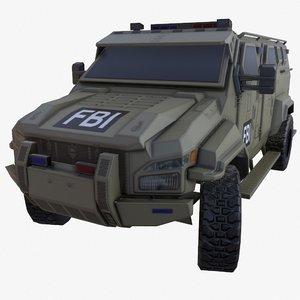 pit-bull vx truck dust 3D model