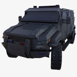 3D pit-bull vx truck green model