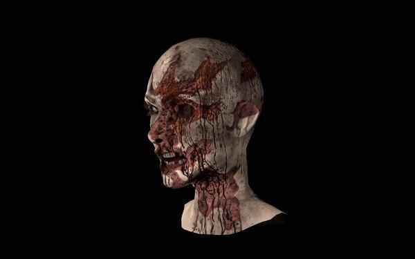 zombie face 3D model