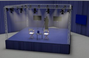 debate scene stage model