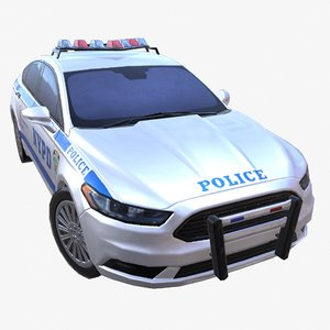 car 01 police nypd 3D