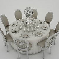 3D wedding table white