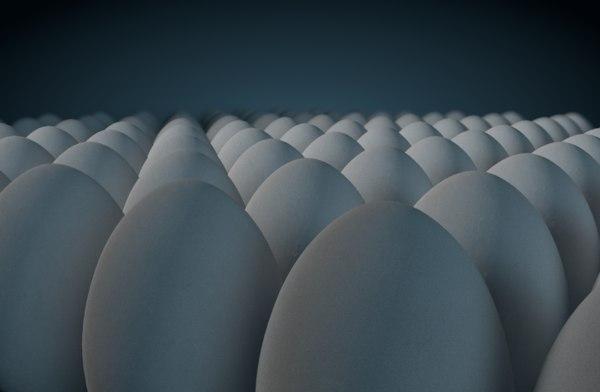 egg animal food 3D model