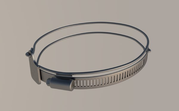 hose clamp 3D model