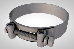 3D collar clamp model