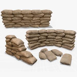 3D sandbag sand bag