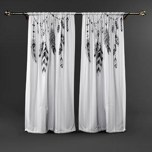 3D curtain hontis model