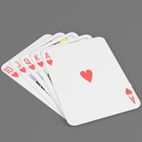 heart royal flush model