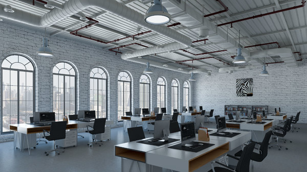 office loft interior 3D model