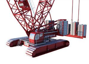 crawler crane mining 3D model
