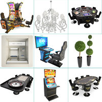 Casino Machine And Lighting Set