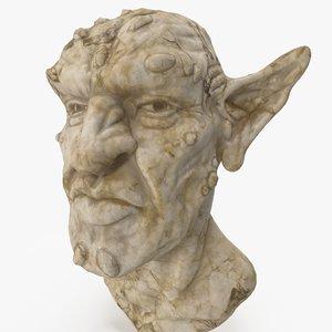 fantasy orc bust 3D model