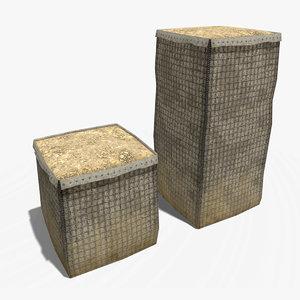 hesco barrier 3D model