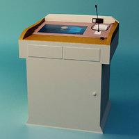 3D lectern