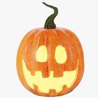 3D halloween pumpkin happy 1
