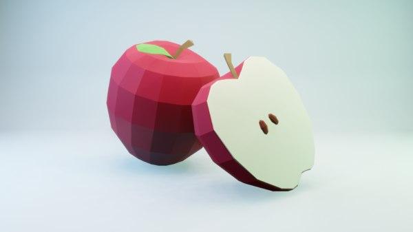 red apple - model