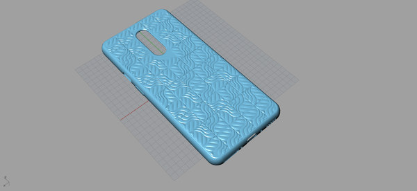 oneplus 7 pro blue print 3D