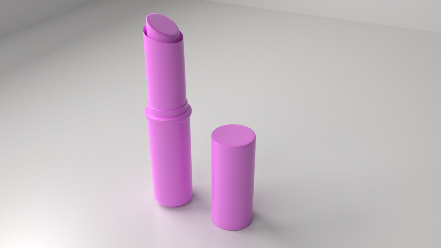 3D lipstick 3 - violet