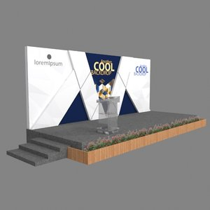 3D stage backdrop